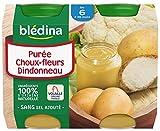 Blédina Petits Pots Purée Choux-Fleur Dindonneau dès 6 mois 2 x 200 g
