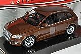 Motormax Audi Q5 SUV Braun Ab 2008 1/24 Modell Auto mit individiuellem Wunschkennzeichen