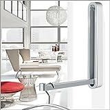 Designer Klapphaken Garderobe TOSKANA - weiß - für Wartezimmer, Büro und Wohnbereiche - platzsparend, modern, stabil, Klapp-Haken aus wetterfestem Chrom und hochwertigem Kunststoff. Exklusive Mini Klapp-Garderobe.