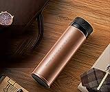 JINRU Vakuumisolierte Edelstahlwasserflasche, LED-Display, geeignet für den Outdoor-Sport,Gold