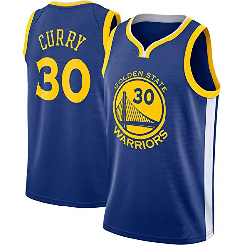 Linyo Stephen Curry Trikot, NBA NO.30 Warriors Golden State Basketballspieler-Trikot, Atmungsaktive und Abriebfeste Stickerei, Jungen Männer Fans Trikot