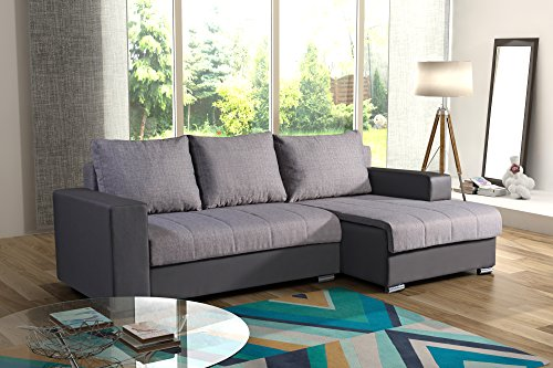 Couchgarnitur Sofa Polsterecke Couch PRIMA Schlaffunktion FEDERKERN Ecksofa