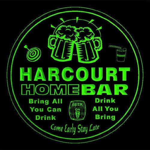 4x-ccq18838-g-harcourt-family-name-home-bar-pub-beer-club-gift-3d-coasters
