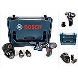 Bosch GSR 12V-15 FC Professional FlexiClick Akku Bohrschrauber mit 2 x 2,5 Ah Akkus + Lader in L-Boxx