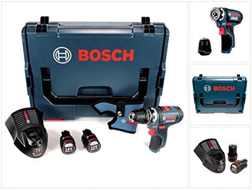 Preisvergleich Produktbild Bosch GSR 12V-15 FC Professional FlexiClick Akku Bohrschrauber mit 2 x 2,5 Ah Akkus + Lader in L-Boxx