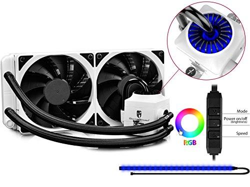 DEEPCOOL CAPTAIN 240 EX WHITE RGB All-In-One Wasserkühlung AIO Flüssigkeitskühlung 240mm Wasserkühler