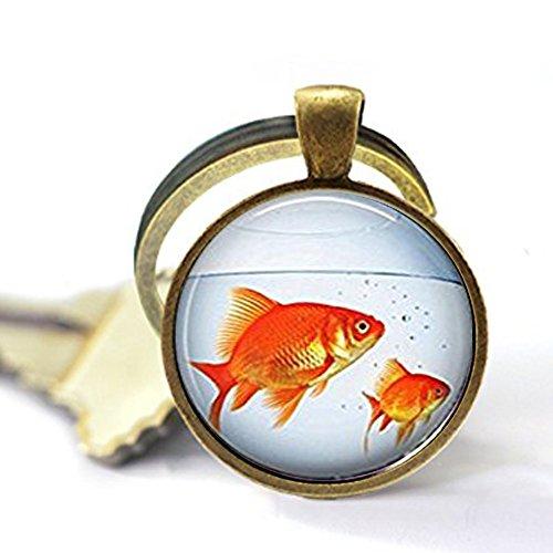 anhänger Gold Fisch Tank Aquarium Goldfish Schlüsselanhänger, Schlüsselanhänger ()
