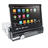 Android 6.0 Single 1 Din Car Stereo 7 Inch In Dash Radio New DVD Player Detachable Panel GPS Sat Nav Touchscreen Support Navigation Bluetooth/RDS/Subwoofer/External DVB-T Box/ Parking system Steering Wheel Control