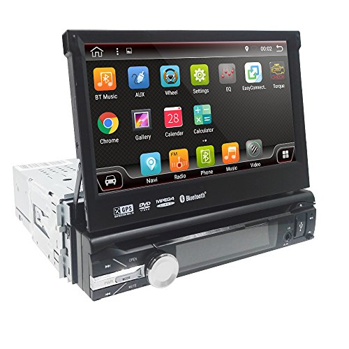 Android 8.1 Single 1 Din Car Stereo 7 Inch In Dash Radio New DVD Player Detachable Panel GPS Sat Nav Touchscreen Support Navigation Bluetooth/RDS/Subwoofer/External DVB-T Box/Steering Wheel Control