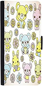 Snoogg Hand Drawn Teddy Beardesigner Protective Flip Case Cover For Samsung G...
