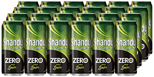 Shandy Cruzcampo Zero Limon Beer - Box of 24 Cans x 330 ml - Total: 7.92 L