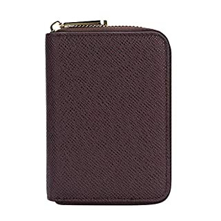 Kongnijiwa Male Business Solid Organizer Wallets High Capacity Purse Men PU Leather Long Wallet Card Holder Coin Bag, Brown Color