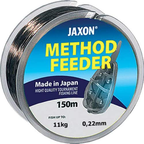 Jaxon Angelschnur Method Feeder 150m / 0,16-0,32mm Spule Monofile 0,026€/m (0,22mm / 11kg)