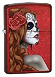 Zippo Day of the dead Girl winddicht Feuerzeug – Candy Apple Red