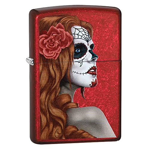 "Zippo ""Day Of The Dead Girl"" Windproof Lighter - Candy Apple Red"