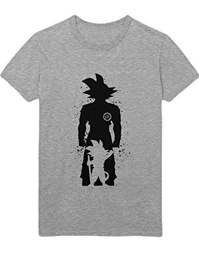 T-Shirt Son Goku Dragon Z Growing Fast GT Super Trunks Gohan C980004 Grau ()