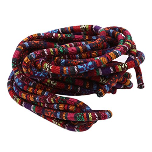 Kingus handgemachte farbige Stoff Baumwollschnur Seil dicke elastische Schock Cord Prefect für Outdoor-Aktivitäten und Sport DIY Zubehör, 5 -