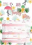 Premium Familienkalender XL Familienplaner Familientimer Family Timer 2019 DIN A3 Wandkalender Kalender Familie 5 Spalten