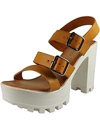 Loudlook Nouvelle Femme Mesdames Cheville Bretelles Platform Boucles Crampons Chaussures ? Talons Hauts Sandales Taille 3-8