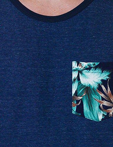 Franklin & Marshall Herren T-Shirt blau blau Einheitsgröße Blue