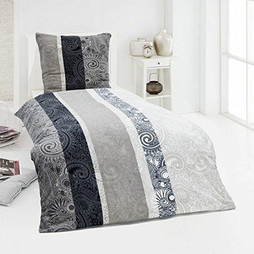 Warme Microfaser Fleece Winter Bettwäsche Kuschel weich 135x200 Kissenbezug, Design - Motiv:Design 4