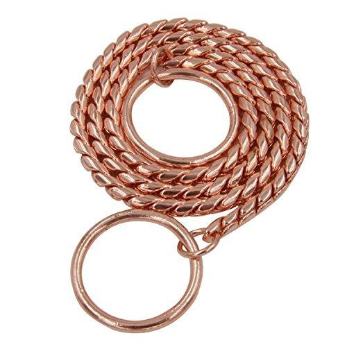 moonpet Rose Gold P Choke Schlange Kette Halsband–Command, Dog Training Schlupfhalsband gehorcht (Kette Schlange Hund Halsband)