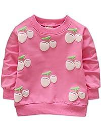 Brightup Baby Mädchen Süße Süßigkeitsfarben Sweatshirt Pullover, Langes Hülsen T-Shirt