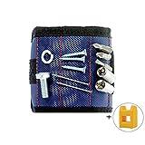 DIY Hand Tools Zubehör Magnetverschluss Armband mit Magnetisierer und Entmagnetisierer Werkzeug Schrauben Nägel Magnetverschluss Set Vater Tag 's Best Geschenk für Schraube, Nadel, Bohrer, blau