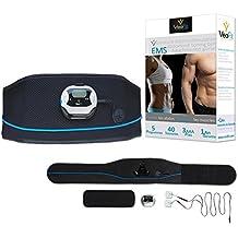 VeoFit Cintura Addominale di Allenamento - Uomo & Donna - Tonifica, rassoda e rafforza i muscoli addominali per una pancia piatta