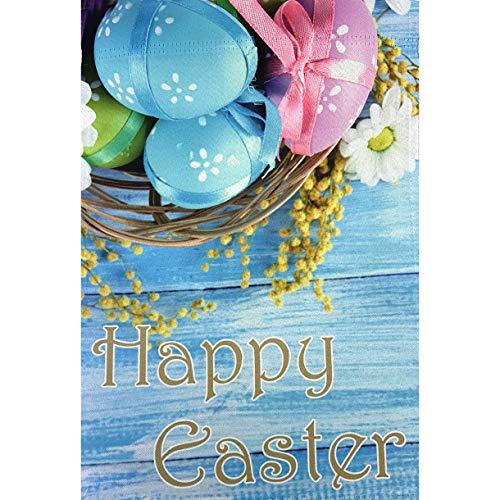 aster Eggs - 30,5 x 45,7 cm, doppelseitig, Yard Decor Banner, Oaster Egg Korb, Frühlingsdekoration ()