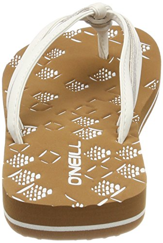 O'Neill FW 3 Strap Ditsy Flip Flops, Infradito Donna Weiß (1030 Powder White)