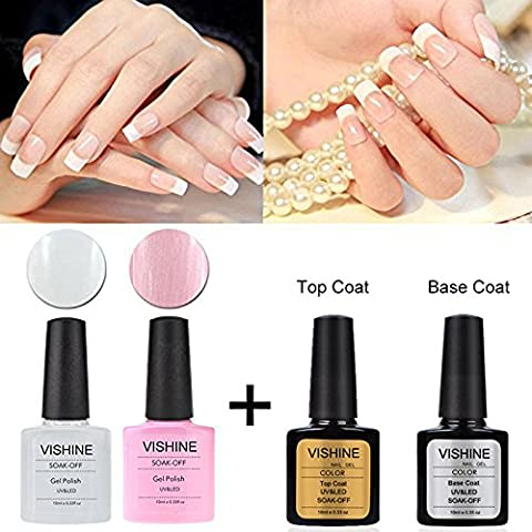 Vishine UV LED Gel auflösbarer Nagellack 10ml french manicure kit