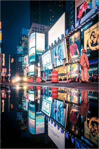 Posterlounge Acrylglasbild 20 x 30 cm: Broadway - Times Square - New York City von Sascha Kilmer - Wandbild, Acryl Glasbild, Druck auf Acryl Glas Bild