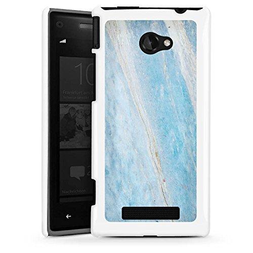 DeinDesign HTC Windows Phone 8X Hülle Schutz Hard Case Cover Marmor Blau Marble Marmoriert