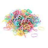 Lady Stretchy Ponytail Holders Hair Rubber Bands 360pcs Assorted Colour
