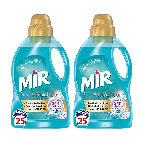 Mir Soins Et Fraîcheurs - Lessive Liquide - Lot de 2 x 1,5L - 50 Lavages