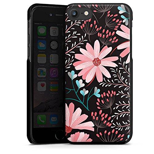 Apple iPhone 4s Silikon Hülle Case Schutzhülle Blumen Herbst Muster Hard Case schwarz