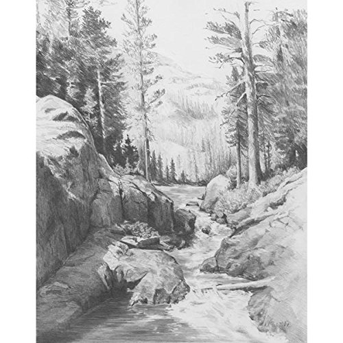 Royal & Langnickel 22,9x 27,9cm Malen nach Zahlen, Motiv Shadow Lake, vorgedruckt, Zeichenset