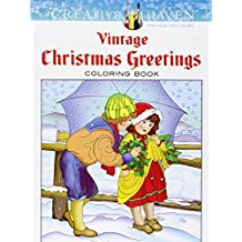 Vintage Christmas Greetings Adult Coloring Book