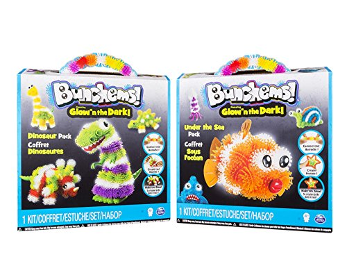 Spin Master - Bunchems Coffret Thématiques : Animaux Marins + Dinosaure