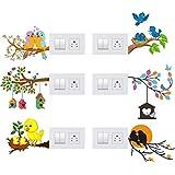 Decals Creation Vinyl Animals Wall Switch Board Sticker, Multicolour