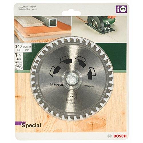 Bosch 2609256885 140 mm  Lama per sega circolare speciale, 40 denti, foro 20 mm / foro con anello di riduzione di 12,75 millimetri