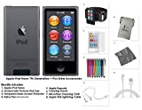 Apple iPod Nano 16GB - Space Grey + Extra Accessories, 7th Generation *LATEST MODEL July 2015*