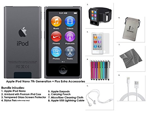 apple-ipod-nano-16gb-space-grey-extra-accessories-7th-generation-latest-model-july-2015