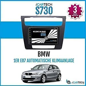 Icartech 7 Car Radio Dvd Player For Bmw 1 E81 E82 E87 E88 With Automatic Climate Control With Gps Navigation And Apps