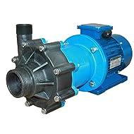 M PUMPS CM MAG-P15 PVDF BSP Centrifugal magnetic drive Pump, Polypropylene, 2 HP, 230V, 1 Phase, 65 Max Feet of Head, 105 gpm flow