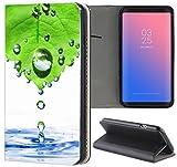 Samsung Galaxy S3 / S3 Neo Hülle Premium Smart Einseitig Flipcover Hülle Samsung S3 Neo Flip Case Handyhülle Samsung S3 Motiv (1016 Abstract Grün Blau Weiß)