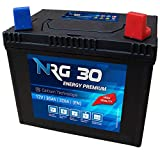 NRG Premium 30Ah 12V Rasentraktor Aufsitzmäher Rasenmäher Batterie +Plus Pol rechts Murray Husqvarna