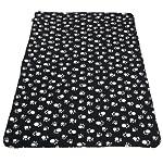 Extra Large Soft Cosy Warm Fleece Pet Dog Cat Animal Blanket Throw 140 x 100cm - Black 5