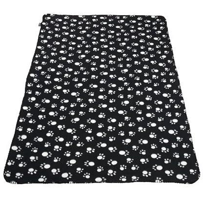 Extra Large Soft Cosy Warm Fleece Pet Dog Cat Animal Blanket Throw 140 x 100cm - Black 2